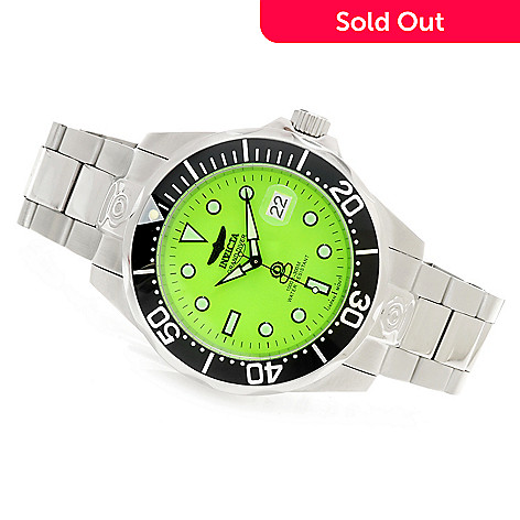 623-979 - Invicta 46mm Grand Diver Automatic Lume Dial Bracelet Watch w/ Eight-Slot Dive Case