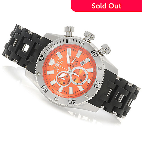 623-983 - Invicta 50mm Sea Spider Quartz Chronograph Stainless Steel Polyurethane Bracelet Watch