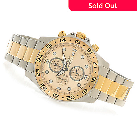 623-984 - Invicta 45mm Pro Diver Quartz Chronograph Bracelet Watch w/ One-Slot Dive Case