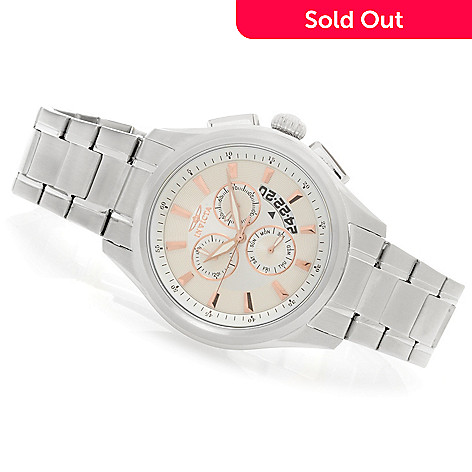 624-215 - Invicta 45mm Specialty Quartz Chronograph Bracelet Watch w/ Three-Slot Dive Case