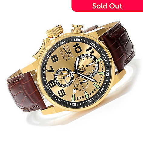 624-234 - Invicta 46mm I Force Quartz Chronograph Alligator Strap Watch