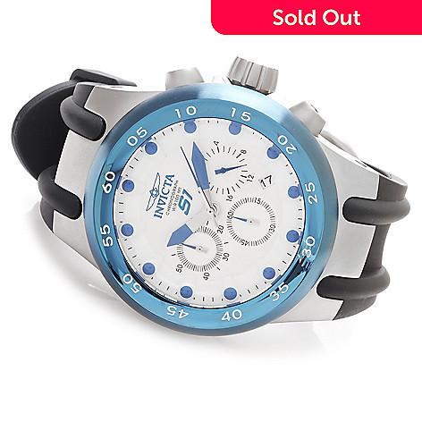 624-595 - Invicta 48mm S1 Aviator Quartz Chronograph Polyurethane Strap Watch w/ Three-Slot Dive Case