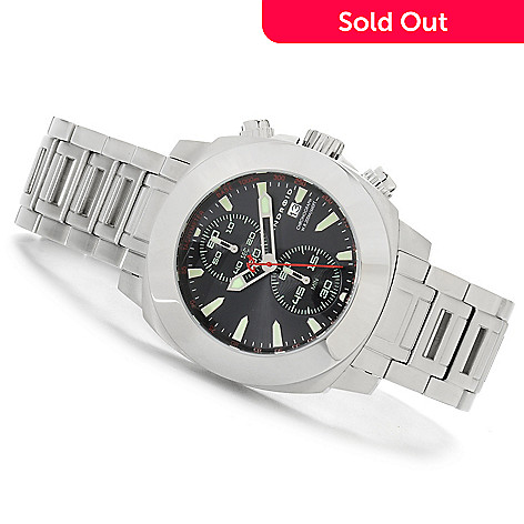 624-795 - Android 49mm Parma Two-Eye Vertical Quartz Chronograph Stainless Steel Bracelet Watch