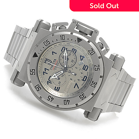 625-846 - Invicta 51mm Coalition Force Jason Taylor Swiss Titanium Watch w/ Three-Slot Dive Case