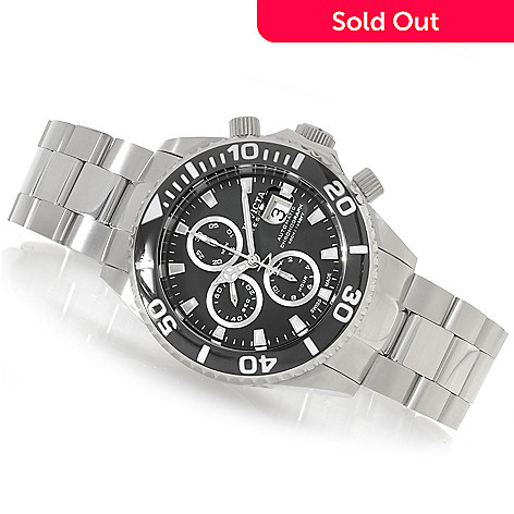 625-881 - Invicta Reserve 47mm Pro Diver Swiss Valjoux 7750 Bracelet Watch w/ One-Slot Dive Case