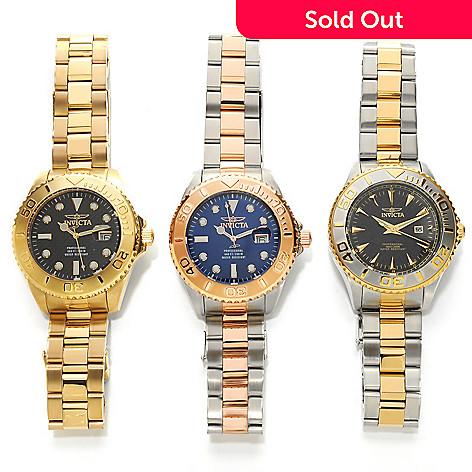 626-362 - Invicta 47mm Set of Three Pro Diver Quartz Bracelet Watches w/ Three-Slot Dive Case