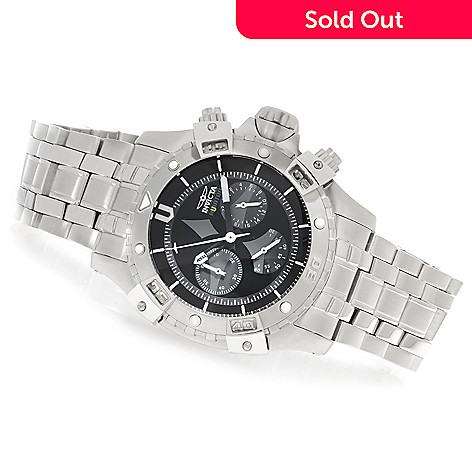 626-366 - Invicta 48mm Aviator Quartz Chronograph Bracelet Watch w/ Eight-Slot Dive Case