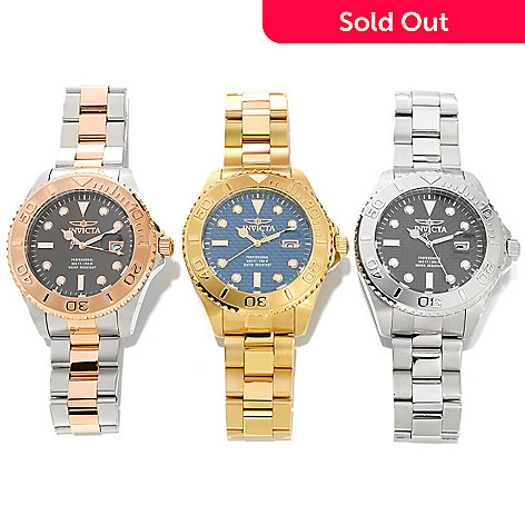 626-446 - Invicta 47mm Set of Three Pro Diver Quartz Bracelet Watches w/ Three-Slot Dive Case