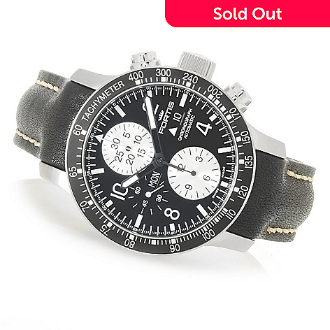 626-827 - FORTIS 43mm B-42 Stratoliner Swiss Made Valjoux 7750 Stainless Steel Strap Watch