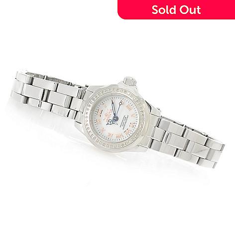 626-853 - Invicta Women's Wildflower Quartz Diamond Accented Bezel Mother-of-Pearl Bracelet Watch