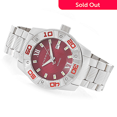 626-880 - Android 48mm Antigravity Automatic Multi Level Bezel Stainless Steel Bracelet Watch