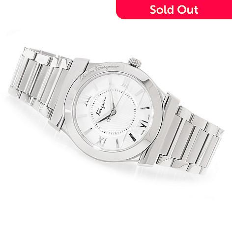 627-084 - Ferragamo 38mm Vega Swiss Made Quartz Stainless Steel Bracelet Watch