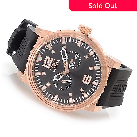 627-116 - Invicta 48mm Specialty Quartz Stainless Steel Polyurethane Strap Watch