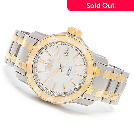 627-291 - Invicta Scuba 38mm or 48mm Mother-of-Pearl Automatic Bracelet Watch w/ Eight-Slot Dive Case