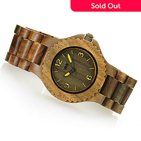 627-301 - WeWOOD 42mm ''Kale'' Quartz Wooden Bracelet Watch