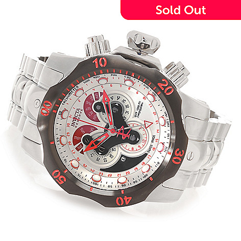 627-304 - Invicta Reserve 52mm Venom Swiss Chronograph Master Calendar Bracelet Watch w/ Eight-Slot Dive Case