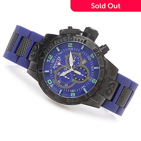 627-343 - Invicta 52mm Corduba Quartz Chronograph Bracelet Watch w/ One-Slot Dive Case
