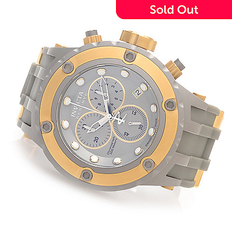 627-373 - Invicta Reserve 52mm Specialty Subaqua ''Shark Edition'' Strap Watch w/ Eight-Slot Dive Case
