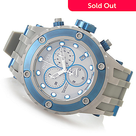 627-375 - Invicta Reserve 52mm Specialty Subaqua ''Shark Edition'' Strap Watch w/ Eight-Slot Dive Case