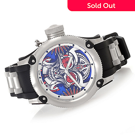 627-495 - Invicta 41mm or 52mm Russian Diver ''Joy & Pride'' Limited Edition Strap Watch w/ Eight-Slot Dive Case