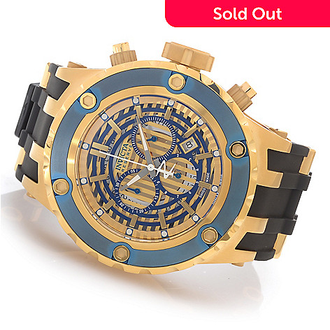 627-512 - Invicta Reserve 52mm Specialty Subaqua Swiss Chronograph Rubber Strap Watch w/ Eight-Slot Dive Case