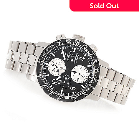 627-658 - FORTIS 43mm B-42 Stratoliner Swiss Valjoux 7750 Automatic Stainless Steel Bracelet Watch