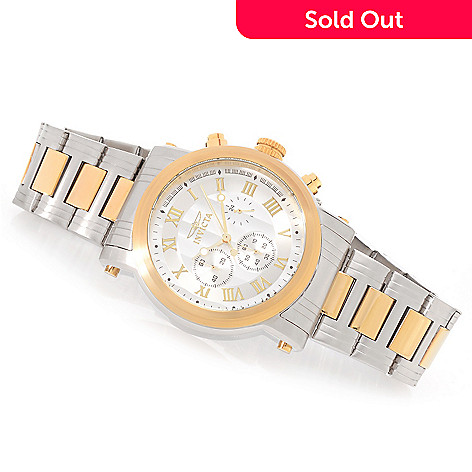 627-664 - Invicta 46mm Aristocrat Quartz Chronograph Stainless Steel Bracelet Watch w/ Three-Slot Dive Case