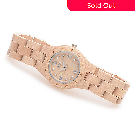 627-679 - WeWOOD Women's ''Moon Deneb'' Quartz Crystal Accented Bracelet Watch