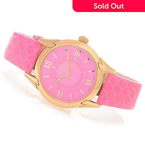 627-755 - Versace Women's Dafne Swiss Quartz Stainless Steel Leather Strap Watch