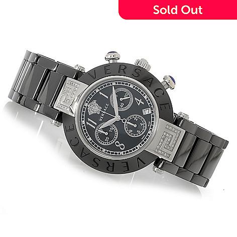 627-759 - Versace Women's Reve Swiss Made Quartz Chronograph 0.31ctw Diamond Accented Bracelet Watch