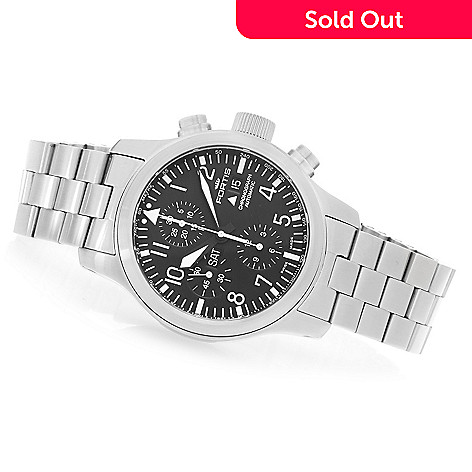 627-777 - FORTIS 42mm B-42 Flieger Swiss Valjoux 7750 Automatic Stainless Steel Bracelet Watch