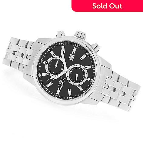 627-813 - Invicta 45mm Specialty Quartz Multi Function Stainless Steel Bracelet Watch w/ Three-Slot Travel Box