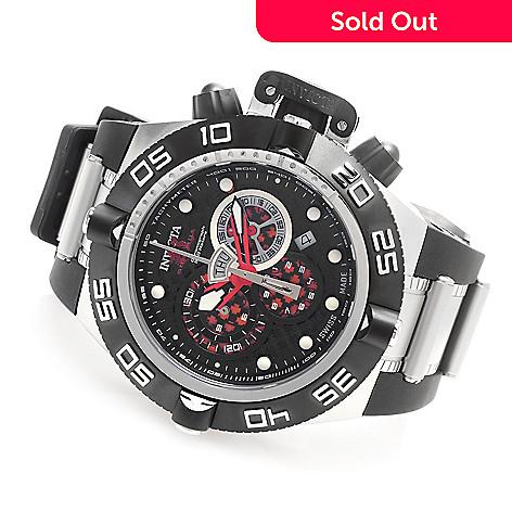 627-817 - Invicta 50mm Subaqua Noma IV Swiss Chronograph Polyurethane Strap Watch w/ Three-Slot Dive Case