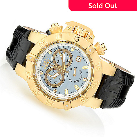 627-835 - Invicta Women's Subaqua Noma III Quartz Chronograph Stainless Steel Leather Strap Watch