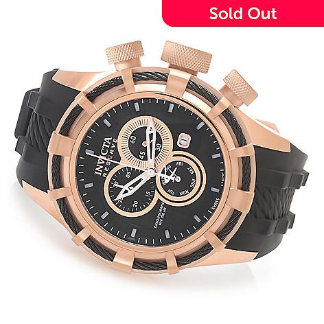 627-839 - Invicta Reserve 50mm Bolt Swiss Chronograph Silicone Strap Watch w/ Three-Slot Dive Case