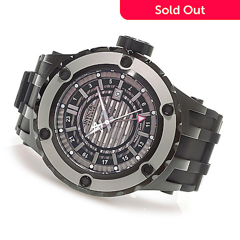 627-904 - Invicta Reserve 52mm Subaqua Specialty Quartz GMT Rubber Strap Watch w/ Three-Slot Dive Case