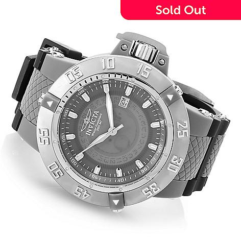 627-981 - Invicta 50mm Subaqua Noma III Anatomic Quartz Polyurethane Strap Watch w/ Three-Slot Dive Case