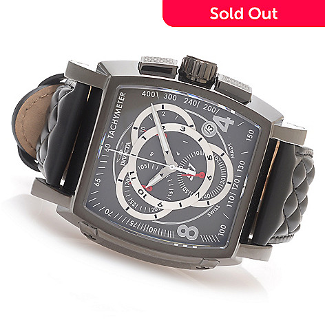 627-988 - Invicta S1 Rally Swiss Made Quartz Chronograph Stainless Steel Leather Strap Watch