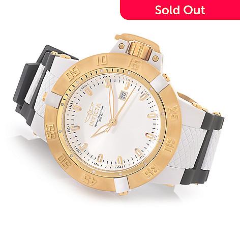 627-992 - Invicta 50mm Subaqua Noma III Anatomic Quartz Polyurethane Strap Watch w/ Three-Slot Dive Case