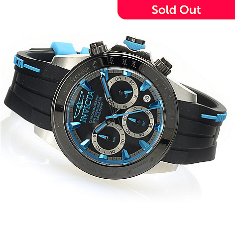 627-994 - Invicta 40mm Speedway Quartz Chronograph Stainless Steel Silicone Strap Watch