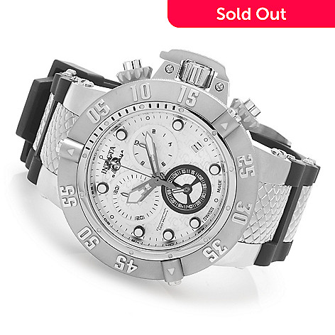 628-107 - Invicta 50mm Subaqua Noma III Swiss Made Quartz Chronograph Silicone Strap Watch