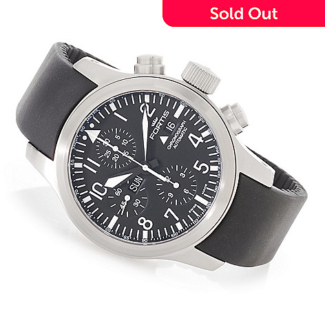 628-138 - FORTIS 42mm B-42 Flieger Swiss Valjoux 7750 Automatic Rubber Strap Watch