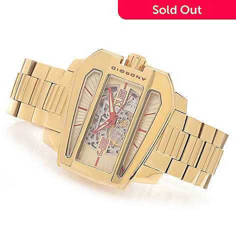 628-198 - Android 53mm Concept S Limited Edition Automatic Bracelet Watch w/ 3-Slot Travel Case
