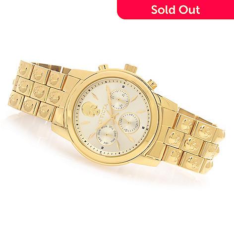 628-252 - Invicta Women's Angel Quartz Multi Function Skull Stainless Steel Bracelet Watch