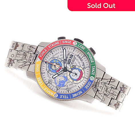 628-369 - FORTIS 42mm Art Edition Andora Emotions Swiss Automatic Titanium Bracelet Watch
