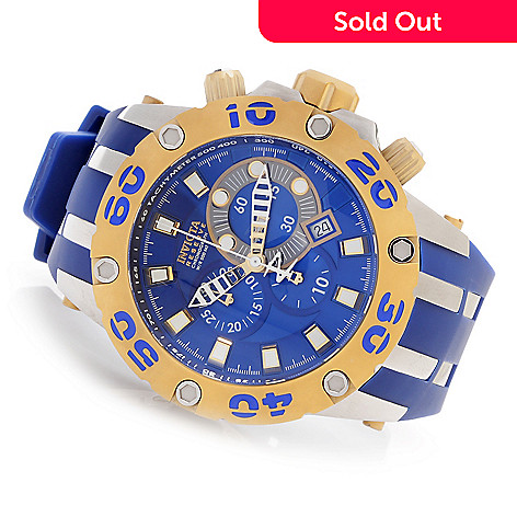 628-393 - Invicta Reserve 51mm Specialty Subaqua Scuba Swiss Made Polyurethane Strap Watch w/ 3-Slot Dive Case