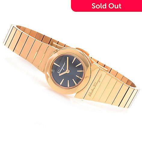 628-406 - Ferragamo Women's Gancino Swiss Made Quartz Stainless Steel Bracelet Watch
