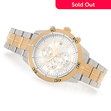 628-458 - Invicta 46mm Elite Diver Quartz Stainless Steel Bracelet Watch w/ Travel Box