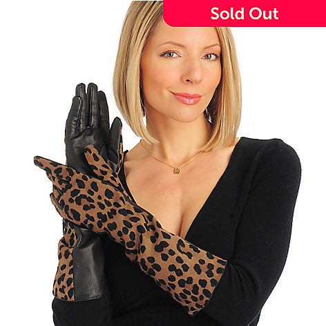 701-154 - Cedric's Women's Opera Length Lamb Leather / Wool-Blend Gloves