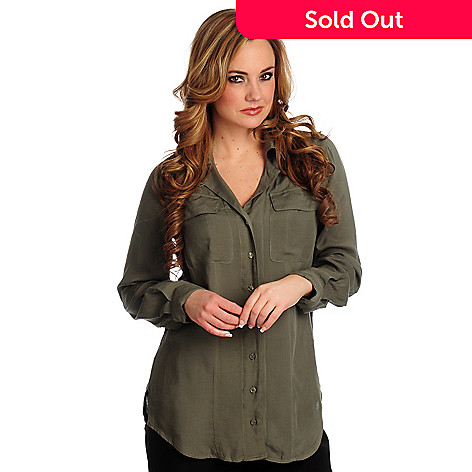 702-086 - Geneology Two Pocket Notch Collar Blouse